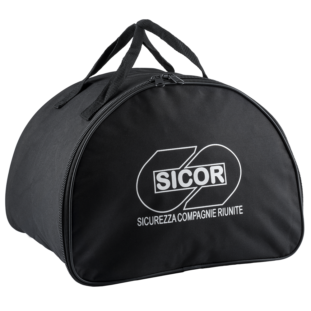 Carrying bag with double zipper