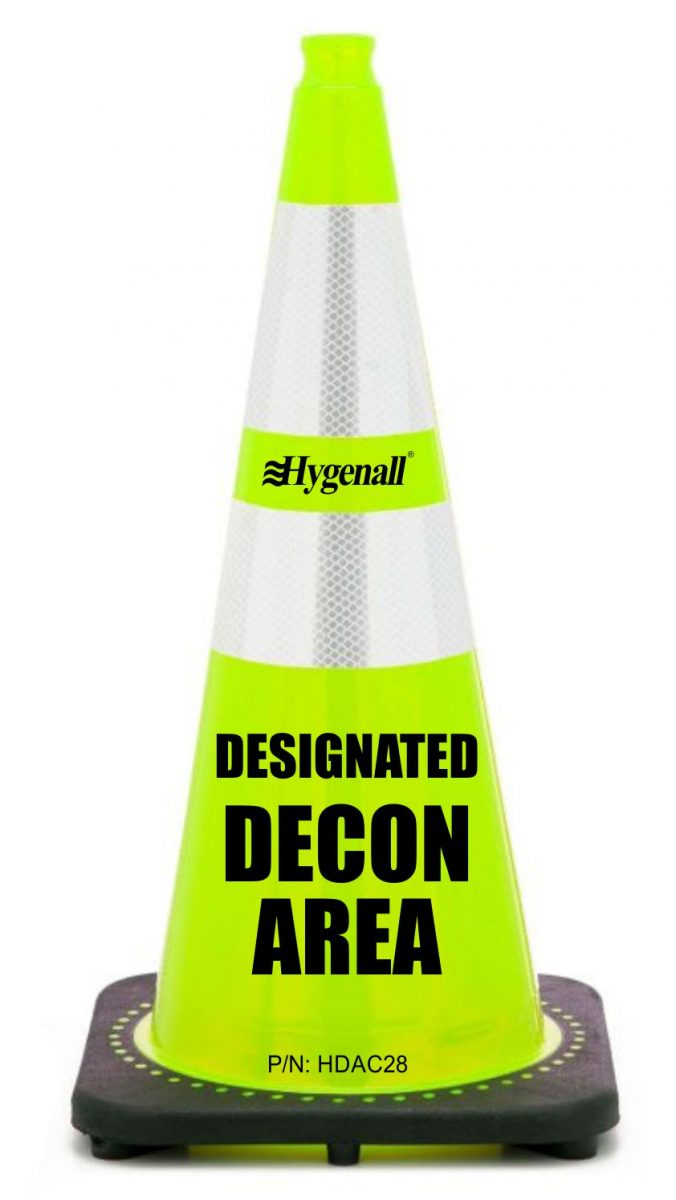 Hygenall® Firefighter DESIGNATED DECON AREA™ (DDA) Cones